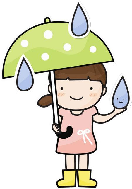 画像サンプル-傘と大きな雨粒