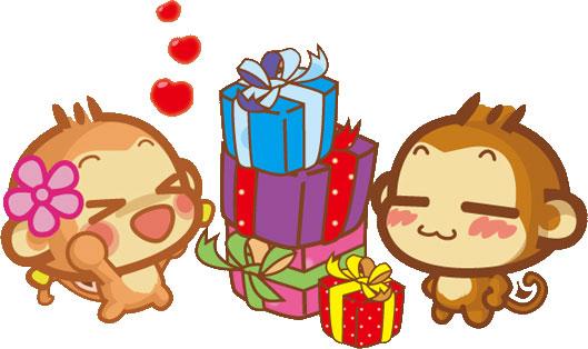 お猿さんのプレゼント