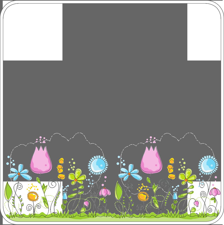 画像 : 春 イラスト かわいい 花・桜 背景 枠 素材画像 【フリー/無料