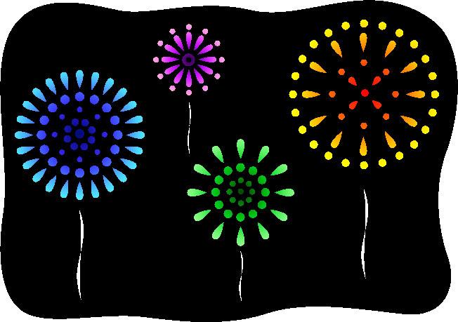夏の画像サンプル-色とりどりの花火