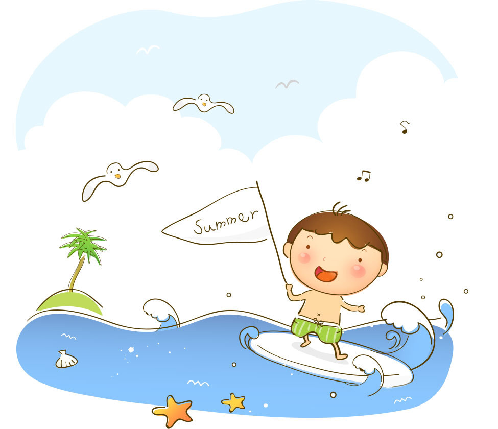 夏 海 イラスト かわいい