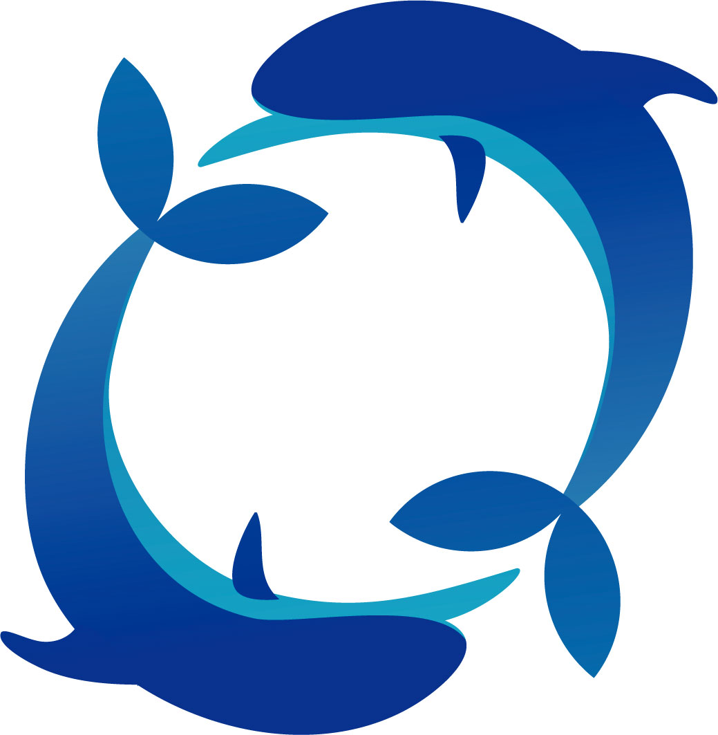 夏の画像サンプル-イルカの輪