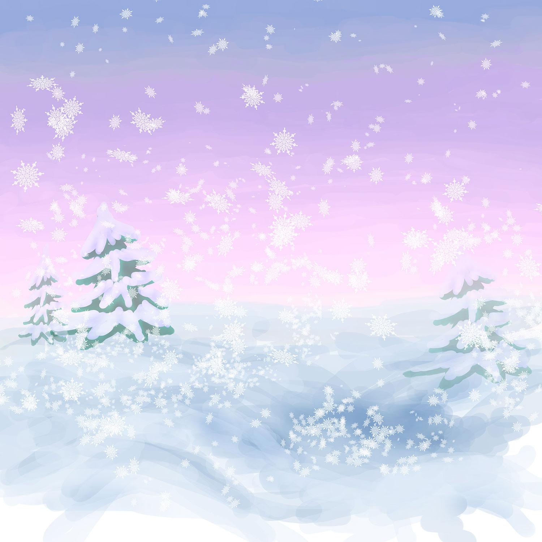冬のイラストNo.191『降り積もる ... : クリスマスカード ダウンロード : カード
