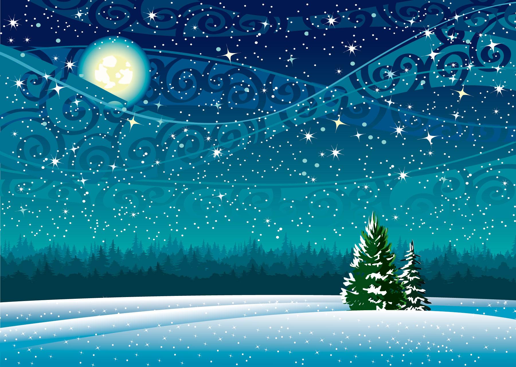 画像 : クリスマス・冬・雪景色 ... : イラスト 無料 カレンダー : イラスト