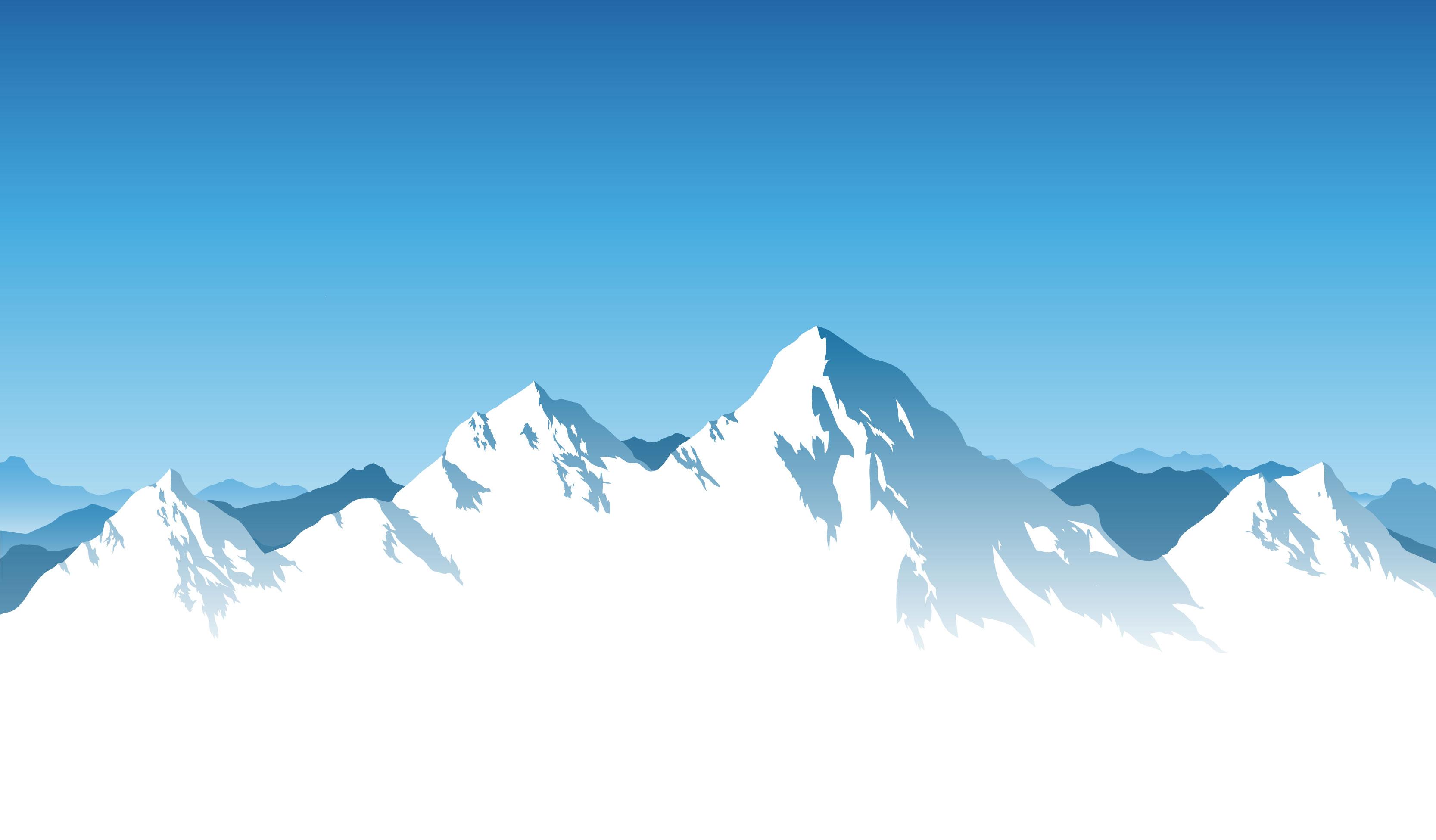 冬のイラストno209雪山連峰無料のフリー素材集花鳥風月