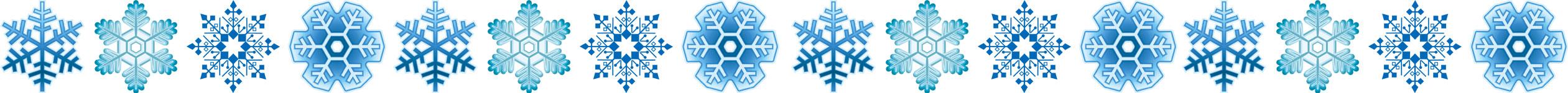 画像サンプル-横線:雪の結晶