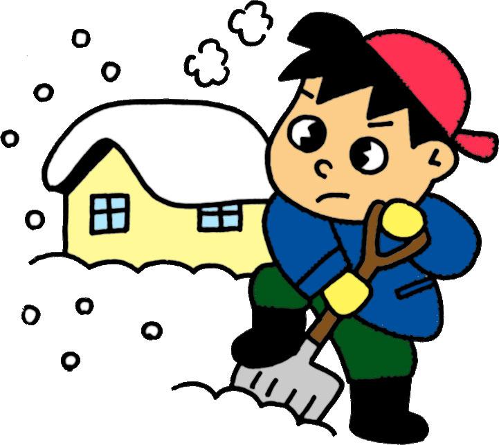 冬のイラストNo.235『雪かきする ...